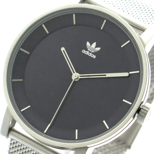 アディダス ADIDAS 腕時計 時計 メンズ レディース Z04-2928 ディストリクト-M1 DISTRICT-M1 CJ6325 クォーツ ネイビー シルバー