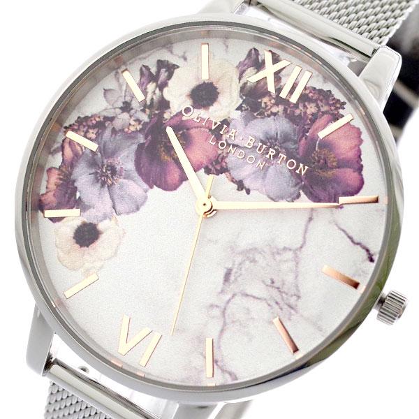 オリビアバートン OLIVIA BURTON 腕時計 レディース OB16MF09 クォーツ ホワイト シルバー ホワイト【送料無料】