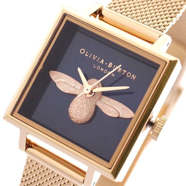 オリビアバートン OLIVIA BURTON 腕時計 レディース OB16AM96 クォーツ ダークネイビー ピンクゴールド ダークネイビー【送料無料】【S1】