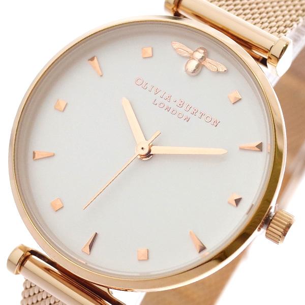 オリビアバートン OLIVIA BURTON 腕時計 レディース OB16AM105 クォーツ ホワイト ピンクゴールド ホワイト【送料無料】