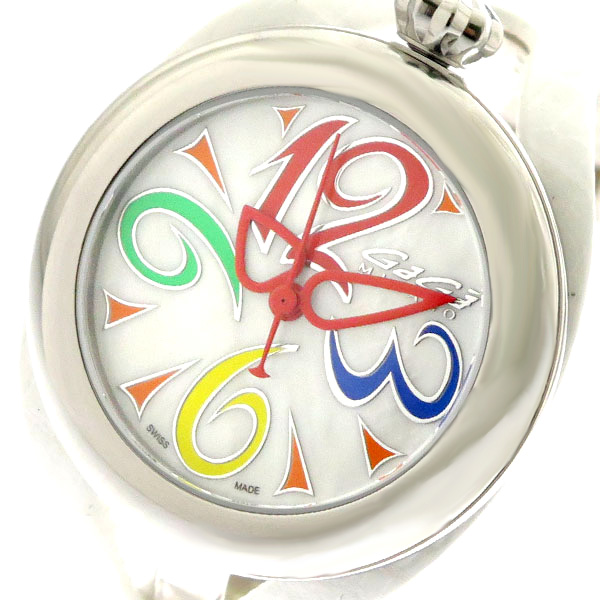 ガガミラノ GAGA MILANO 腕時計 メンズ レディース 6070.01 クォーツ ホワイト ホワイト【送料無料】