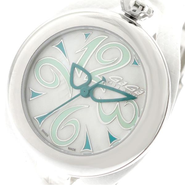 ガガミラノ GAGA MILANO 腕時計 メンズ レディース 6070.04 クォーツ ホワイト ホワイト【送料無料】