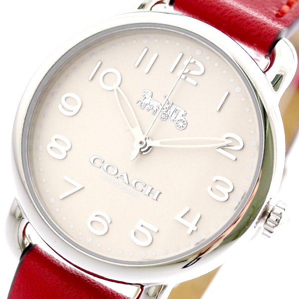 コーチ COACH 腕時計 レディース 14502814 クォーツ オフホワイト レッド レッド【送料無料】