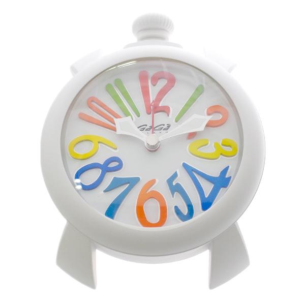 ガガミラノ GAGA MILANO 置き時計 9081.01 クォーツ ホワイト ホワイト【送料無料】