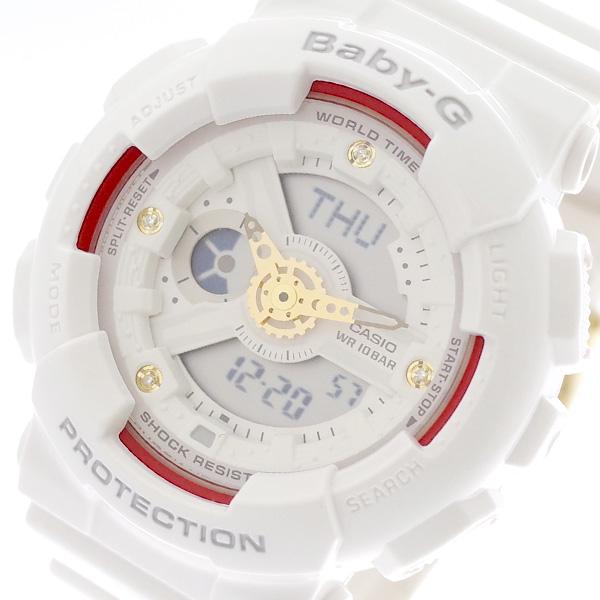 カシオ CASIO ベビーG Baby-G 腕時計 レディース アナデジ クオーツ BA-110DDR-7AJF ホワイト ホワイト【送料無料】
