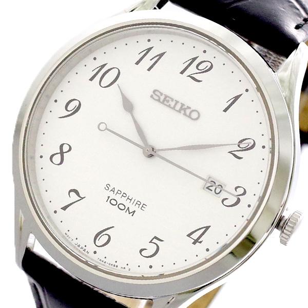 セイコー SEIKO 腕時計 メンズ SGEH75P1 クォーツ ホワイト ブラック ホワイト【送料無料】