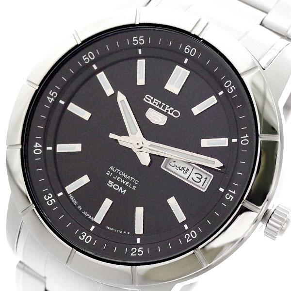 セイコー SEIKO 腕時計 メンズ SNKN55J1 セイコー5 SEIKO5 自動巻き ブラック シルバー ブラック【送料無料】