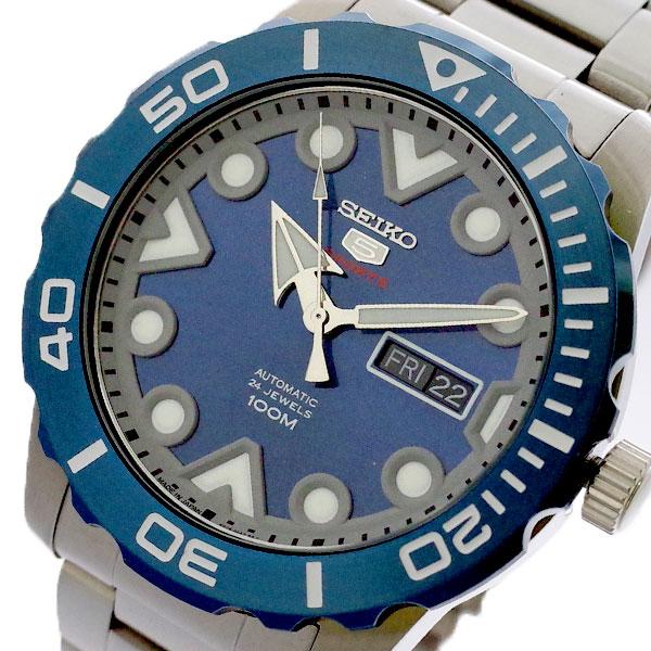 セイコー SEIKO 腕時計 メンズ SRPA09J1 セイコー5 SEIKO5 スポーツ SPORTS 自動巻き ブルー シルバー ブルー【送料無料】