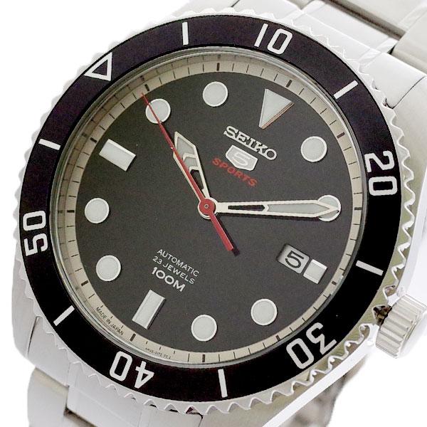セイコー SEIKO 腕時計 メンズ SRPB91J1 セイコー5 SEIKO5 スポーツ SPORTS 自動巻き ブラック シルバー ブラック【送料無料】
