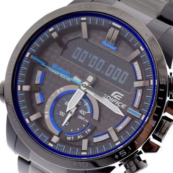 カシオ CASIO 腕時計 メンズ ECB-800DC-1A エディフィス EDIFICE クォーツ グレー ブラック グレー【送料無料】