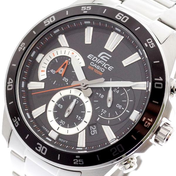 カシオ CASIO 腕時計 メンズ EFV-570D-1AV エディフィス EDIFICE クォーツ ブラック シルバー ブラック【送料無料】