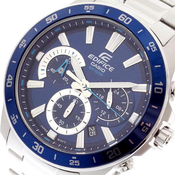 カシオ CASIO 腕時計 メンズ EFV-570D-2AV エディフィス EDIFICE クォーツ ネイビー シルバー ネイビー【送料無料】