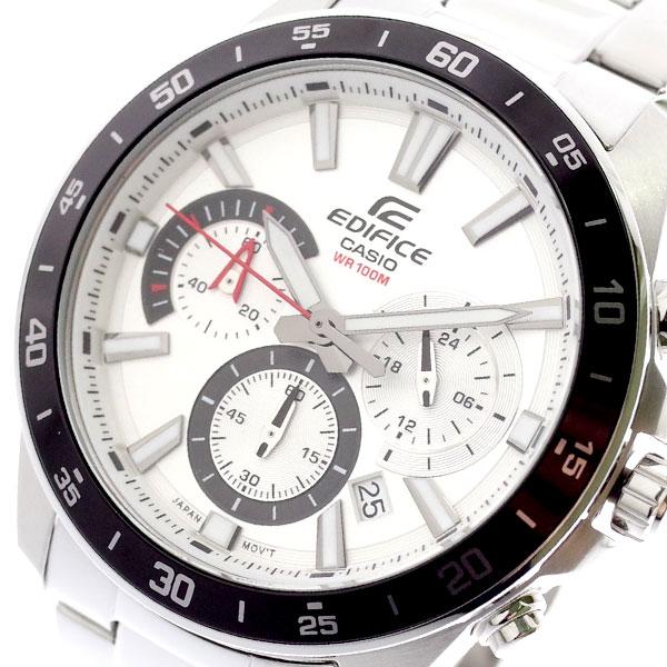 カシオ CASIO 腕時計 メンズ EFV-570D-7AV エディフィス EDIFICE クォーツ ホワイト シルバー ホワイト【送料無料】