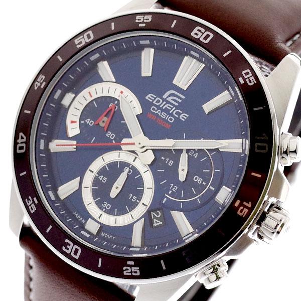 カシオ CASIO 腕時計 メンズ EFV-570L-2AV エディフィス EDIFICE クォーツ ネイビー ダークブラウン ネイビー【送料無料】