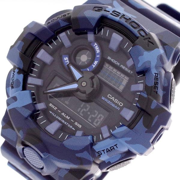 カシオ CASIO 腕時計 メンズ GA-700CM-2A Gショック G-SHOCK クォーツ ブラック ブルー ブルー【送料無料】