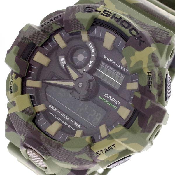 カシオ CASIO 腕時計 メンズ GA-700CM-3A Gショック G-SHOCK クォーツ ブラック カーキ カーキ【送料無料】