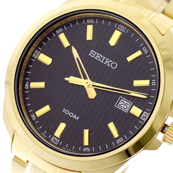 セイコー SEIKO 腕時計 メンズ SUR282P1 クォーツ ブラック ゴールド ゴールド【送料無料】