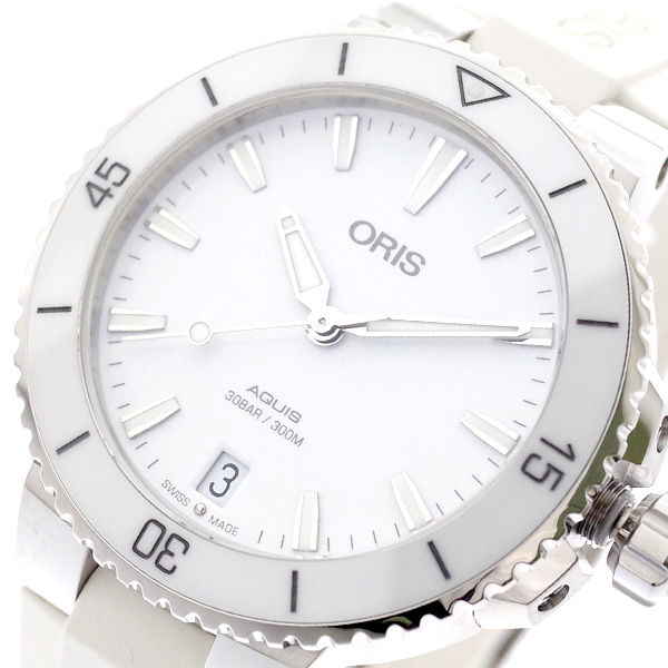 オリス ORIS 腕時計 レディース 73377314151R AQUIS 自動巻き ホワイト ホワイト【送料無料】