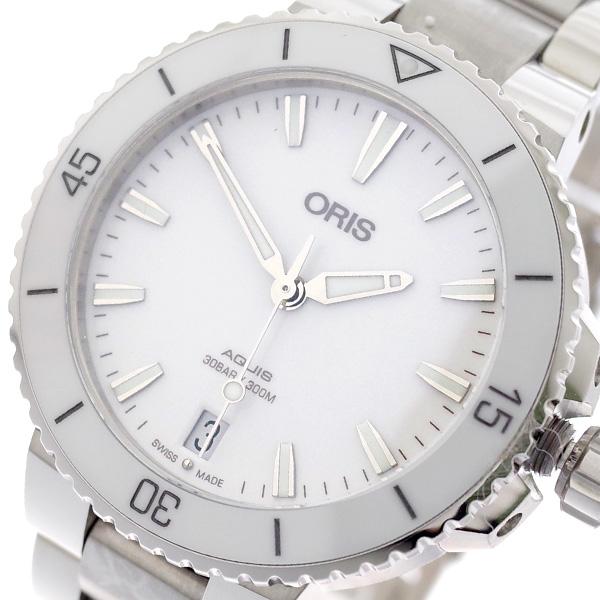 オリス ORIS 腕時計 レディース 73377314151M AQUIS 自動巻き ホワイト シルバー ホワイト【送料無料】