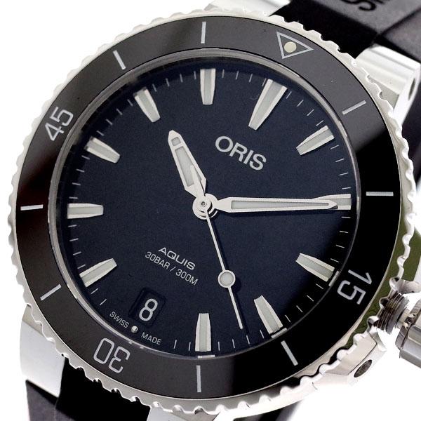 オリス ORIS 腕時計 レディース 73377314154R AQUIS 自動巻き ブラック ブラック【送料無料】