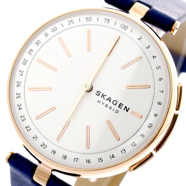 スカーゲン SKAGEN 腕時計 レディース SKT1412 ハイブリッド スマートウォッチ シグネチャー SIGNATUR クォーツ ホワイト ネイビー ホワイト【送料無料】