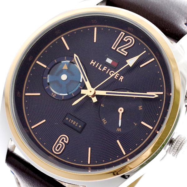 トミーヒルフィガー TOMMY HILFIGER 腕時計 メンズ 1791549 クォーツ ネイビー ダークブラウン ネイビー【送料無料】