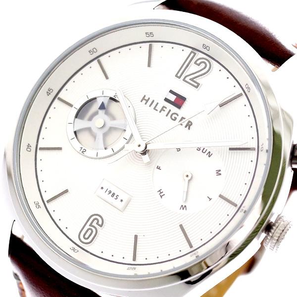 トミーヒルフィガー TOMMY HILFIGER 腕時計 メンズ 1791550 クォーツ ホワイト ブラウン ホワイト【送料無料】
