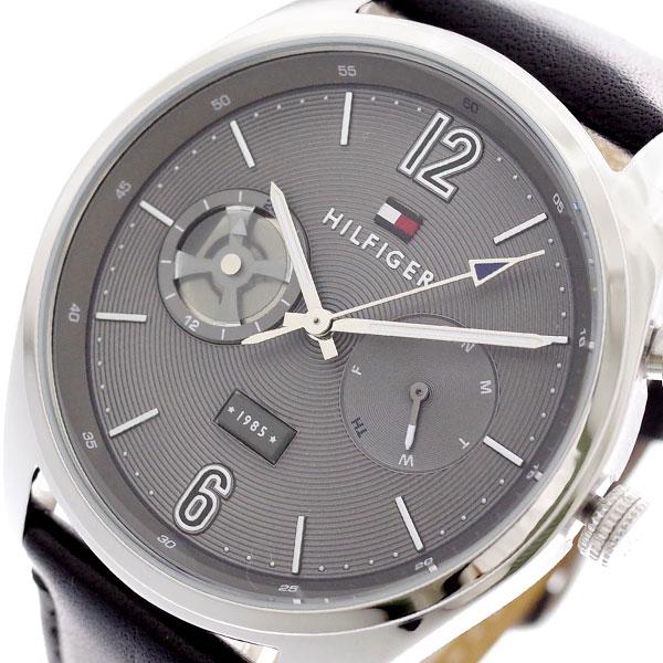 トミーヒルフィガー TOMMY HILFIGER 腕時計 メンズ 1791548 クォーツ グレー ブラック グレー【送料無料】