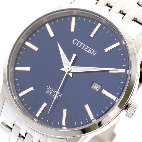 シチズン CITIZEN 腕時計 メンズ BI5000-87L クォーツ ネイビー シルバー ネイビー