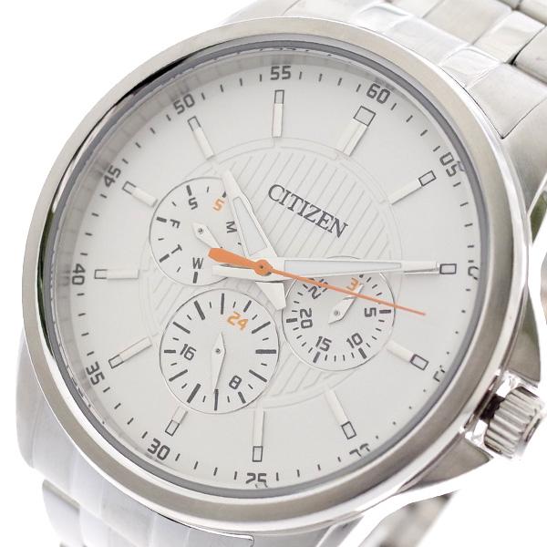 シチズン CITIZEN 腕時計 メンズ AG8340-58A クォーツ ホワイト シルバー ホワイト【送料無料】