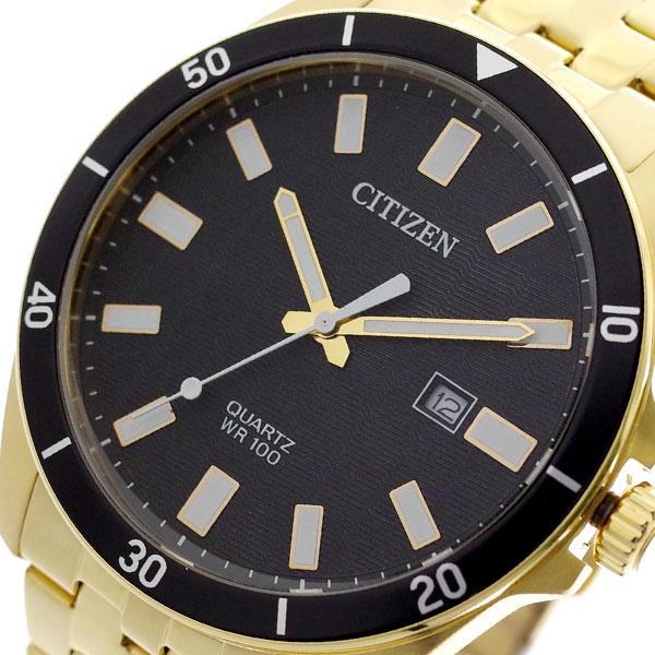 シチズン CITIZEN 腕時計 メンズ BI5052-59E クォーツ ブラック ゴールド ブラック【送料無料】