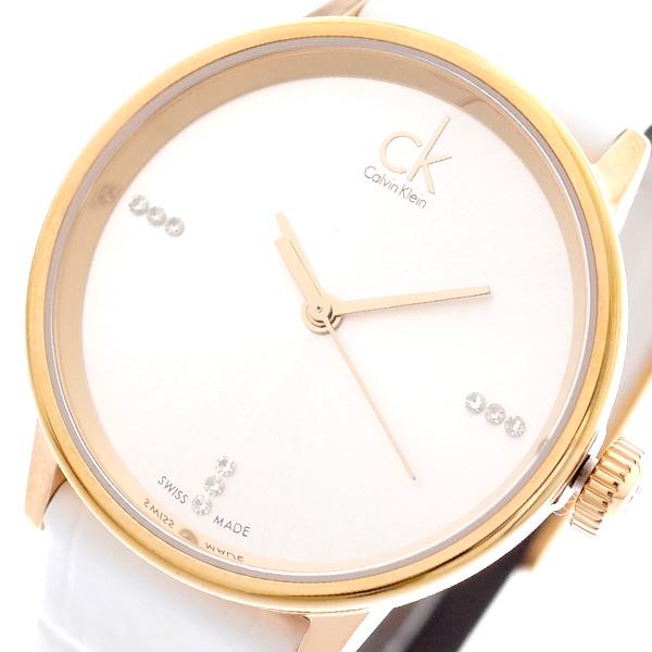 カルバンクライン CALVIN KLEIN 腕時計 レディース K2Y2Y6KW アクセント ACCENT クォーツ メタルホワイト ホワイト メタルホワイト【送料無料】