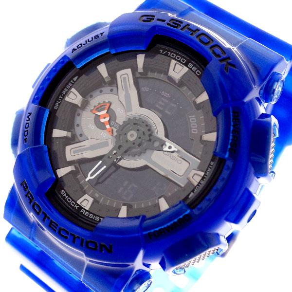 カシオ CASIO 腕時計 メンズ GA-110CR-2A Gショック G-SHOCK クォーツ チャコール ブルー ブルー【送料無料】