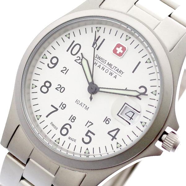 スイスミリタリー SWISS MILITARY 腕時計 メンズ レディース ML-18 クォーツ ホワイト シルバー シルバー【送料無料】