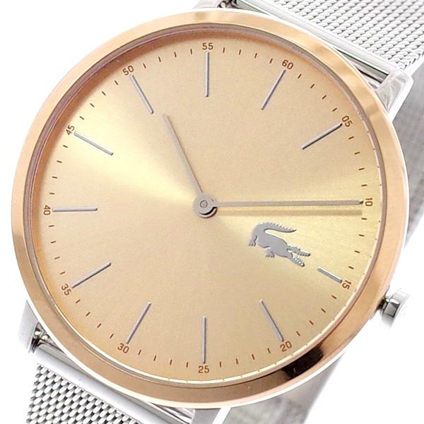 ラコステ LACOSTE 腕時計 レディース 2001002 MONTRE MOON クォーツ ピンクゴールド シルバー ピンクゴールド【送料無料】