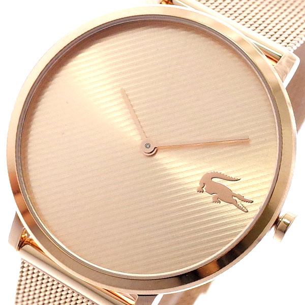ラコステ LACOSTE 腕時計 レディース 2001028 MOON クォーツ ピンクゴールド ピンクゴールド【送料無料】