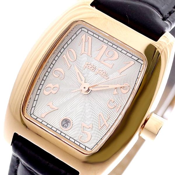 フォリフォリ FOLLI FOLLIE 腕時計 レディース WF5R080SDS-BK S922 クォーツ ホワイト ブラック ブラック