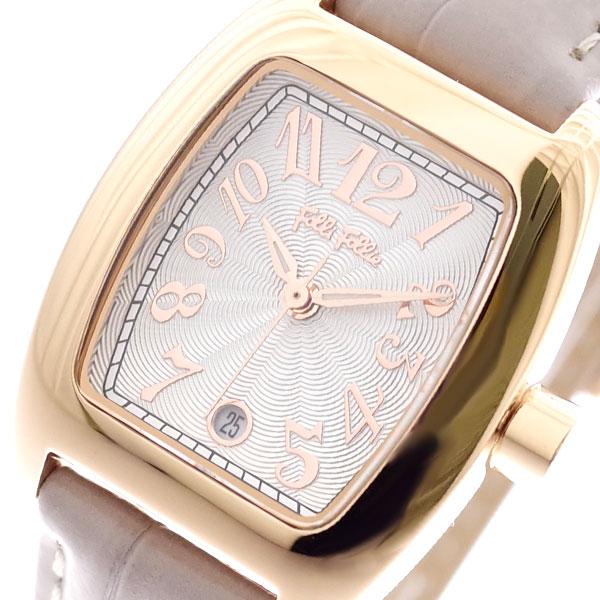 フォリフォリ FOLLI FOLLIE 腕時計 レディース WF5R080SDS-GA S922 クォーツ ホワイト ライトグレー ライトグレー