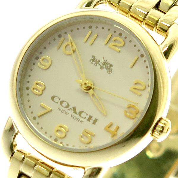 コーチ COACH 腕時計 レディース 14502277 デランシー クォーツ オフホワイト ゴールド ゴールド【送料無料】