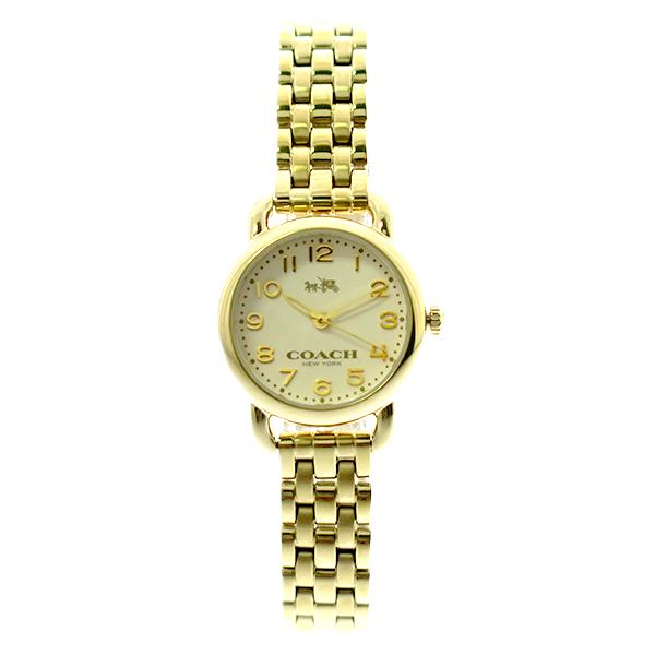 コーチ COACH 腕時計 レディース 14502277 デランシー クォーツ オフホワイト ゴールド ゴールド【ポイント10倍】