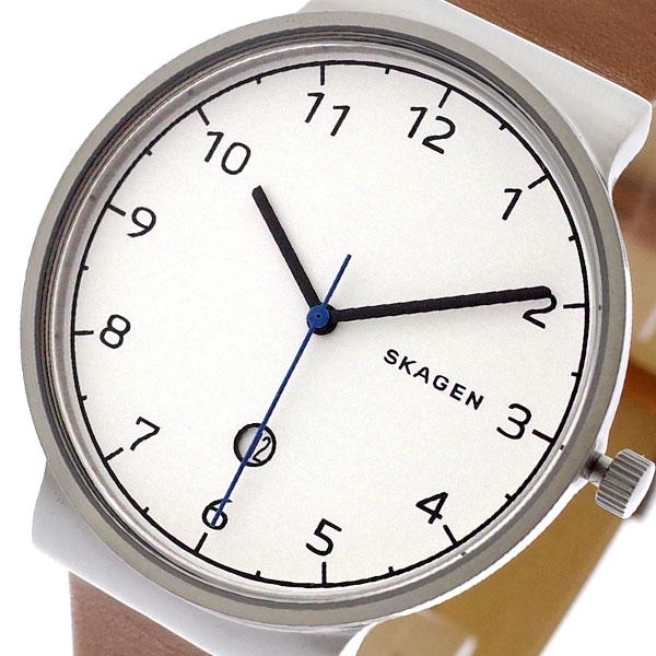 スカーゲン SKAGEN 腕時計 メンズ SKW6433 ANCHER クォーツ ホワイト ブラウン ブラウン【送料無料】