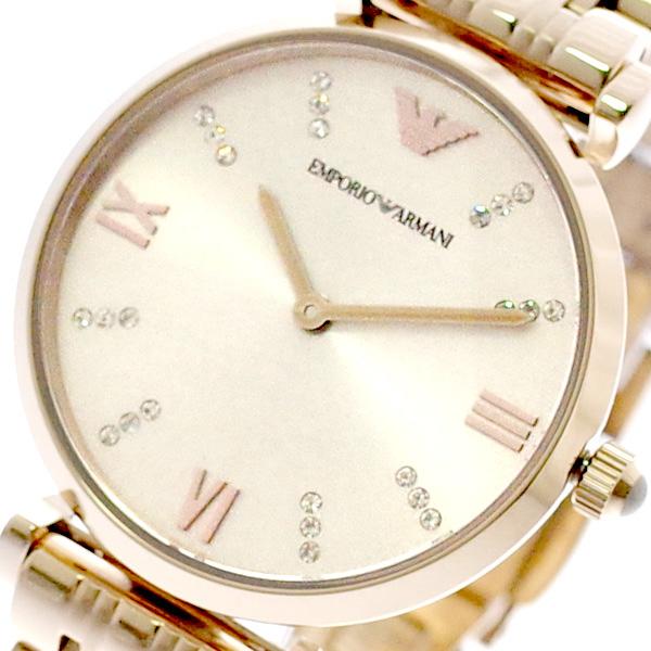 エンポリオアルマーニ EMPORIO ARMANI 腕時計 レディース AR11059 クォーツ ピンクゴールド ピンクゴールド【送料無料】