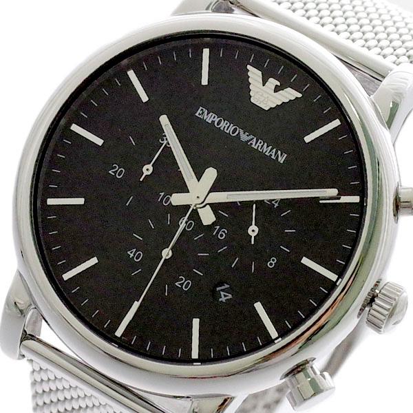 エンポリオアルマーニ EMPORIO ARMANI 腕時計 メンズ AR1808 クォーツ ブラック シルバー ブラック【送料無料】