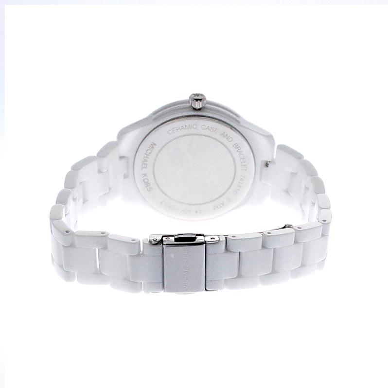 マイケルコース MICHAEL KORS 腕時計 レディース MK6617 クォーツ ホワイト ホワイト【ポイント10倍】
