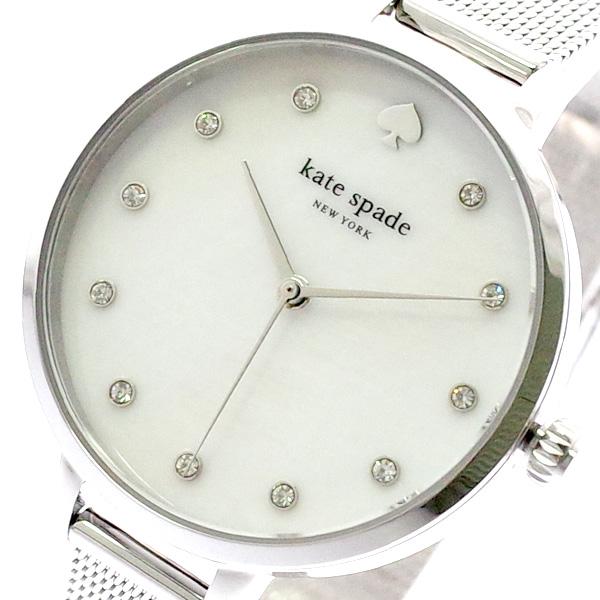 ケイトスペード KATE SPADE 腕時計 レディース KSW1490 クォーツ ホワイト シルバー シルバー【送料無料】