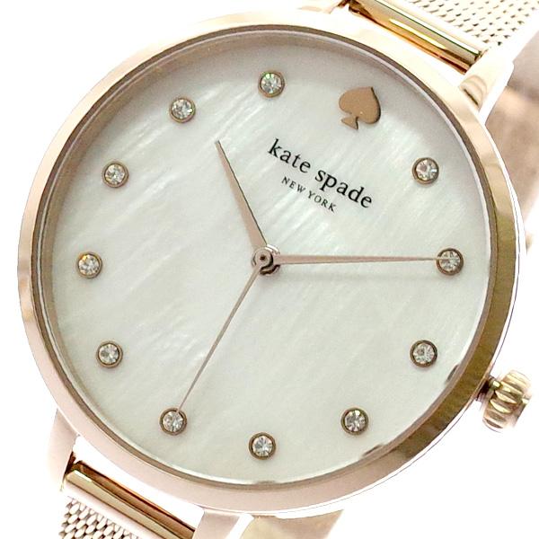 ケイトスペード KATE SPADE 腕時計 レディース KSW1492 クォーツ ホワイト ピンクゴールド ピンクゴールド【送料無料】