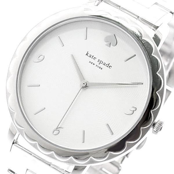 ケイトスペード KATE SPADE 腕時計 レディース KSW1493 クォーツ ホワイト シルバー シルバー【送料無料】