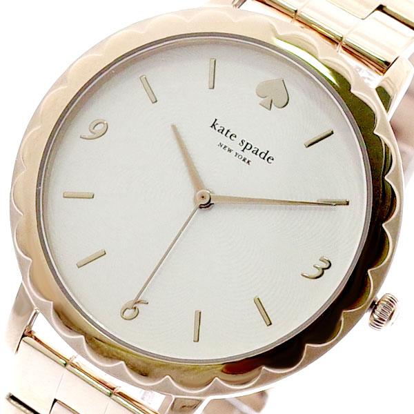 ケイトスペード KATE SPADE 腕時計 レディース KSW1495 クォーツ ホワイト ピンクゴールド ピンクゴールド【送料無料】
