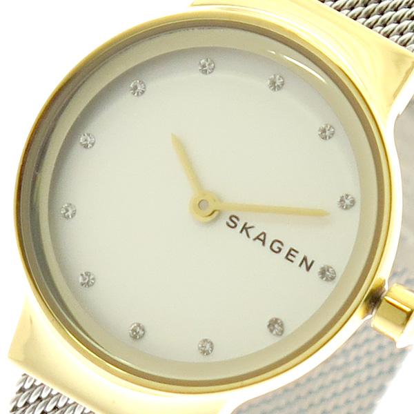 スカーゲン SKAGEN 腕時計 レディース SKW2666 クォーツ ホワイト シルバー ゴールド【送料無料】