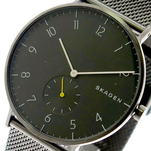 スカーゲン SKAGEN 腕時計 メンズ SKW6470 クォーツ ブラック ガンメタ ブラック【送料無料】